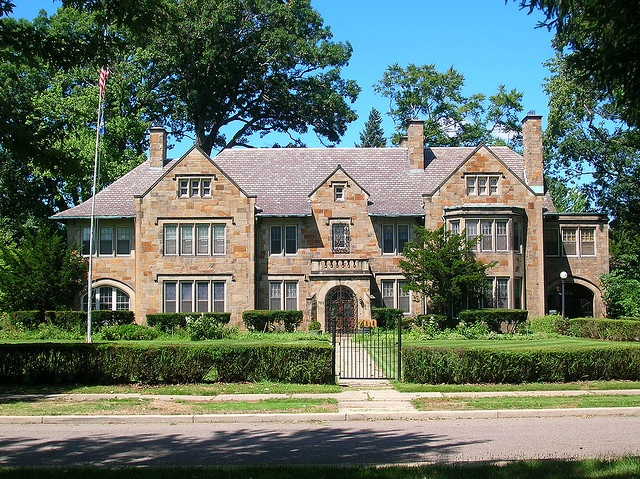 "Walter O. Briggs Mansion, ""Stone Hedge,"" in the Boston-Edison neighborhood of Detroit, MI"