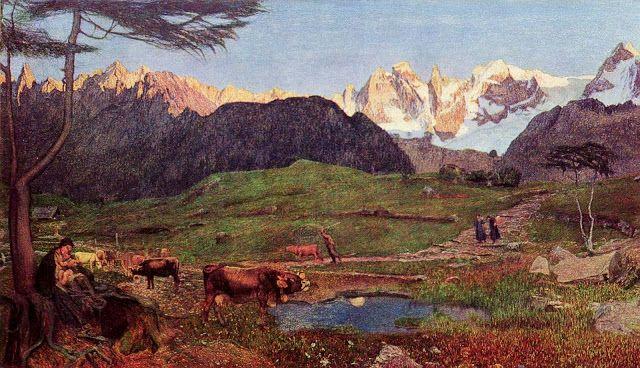 Giovanni Segantini, Triptych of the Alps, Life, 1899