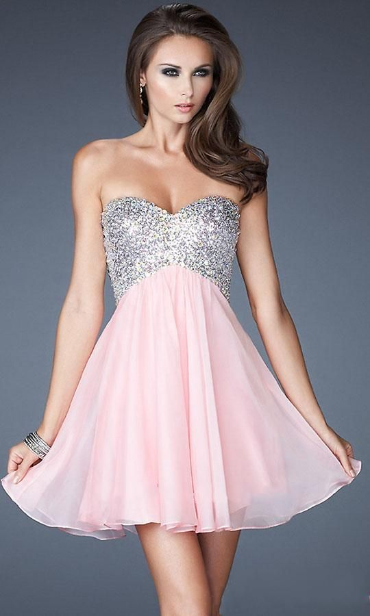 La Femme Strapless Short Prom Dress With Open Back Evening Dresses Fast Shipping Pinterest And