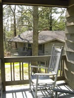 Carla and H & H are cabins with three bedrooms, three bathrooms, and a kitchen and living area!