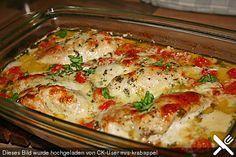 Mozzarella - Hähnchen in Basilikum - Sahnesauce, ein schmackhaftes Rezept aus der Kategorie Schnell und einfach. Bewertungen: 591. Durchschnitt: Ø 4,6.