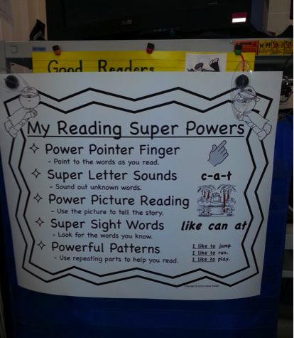 Super Reading Anchor Chart and Student Charts | school ...