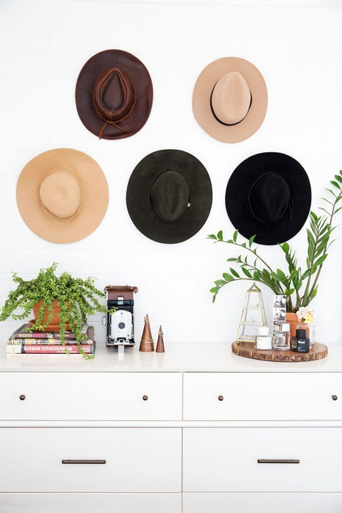 21 best home work report 2017 images on pinterest for Ways to hang hats on wall