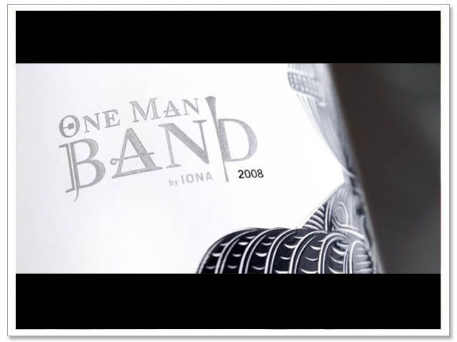 Beautiful new label for Iona's - 'One Man Band'