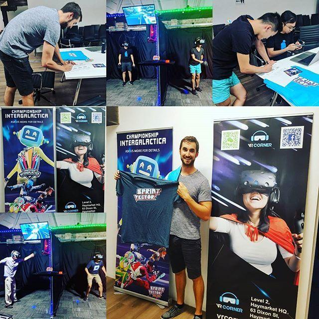 #winner #winner #chicken #dinner. #congratulations to @the_radykov to be the winner of round 1 #championship #intergalactica @survios @alienware #survios #sprintvector  #Follow me @vr_corner for more. Turn on post notifications! ___________________________________ #teamwork #gamer #gaming #epicmoments #highlights #vrsydney #vr #vrgame #virtualreality #htcvive #arcadegame #cool #nice #chinatownsydney #arcade #sydney #vrarcade