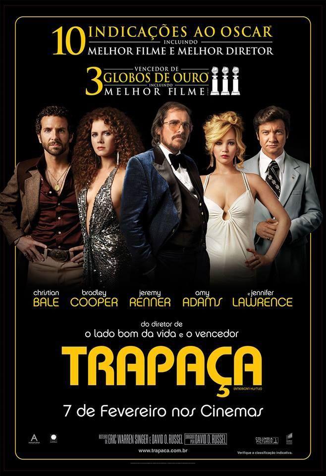 Com Bradley Cooper filme Trapaça estreia nesta sexta (07)
