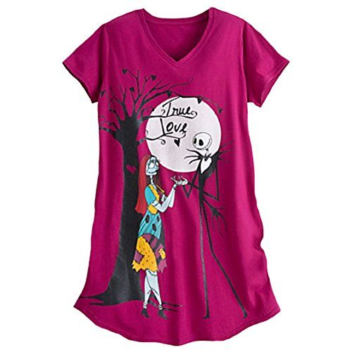 Jack Skellington and Sally True Love Womens Nightshirt ML ** Learn more by visiting the image link. Note: It's an affiliate link to Amazon.