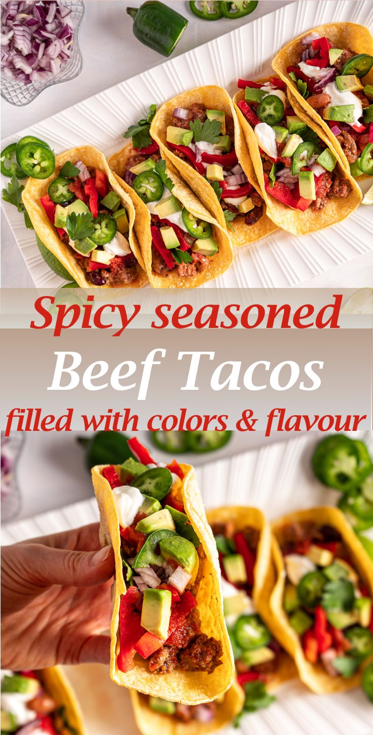 Jul 13, 2020 – This recipe is so simple and takes only 30 minutes from start to finish! Healthy Ground Beef Tacos made w…