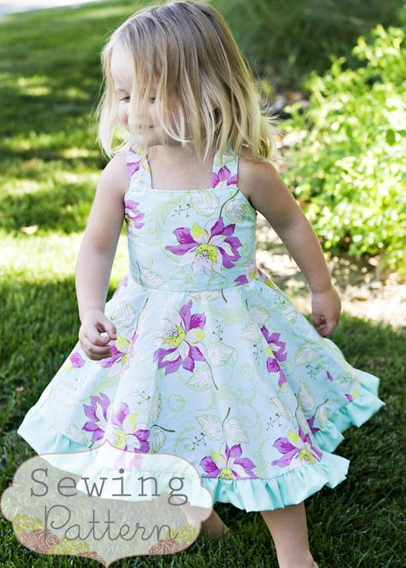 INSTANT DOWNLOAD- The Twirly Dress (Size 1 to 7) PDF Sewing Pattern and Tutorial $9