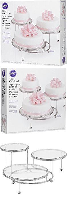 Cake Display Stand. Wilton 307-859 3-Tier Cakes and Cupcake Stand.  #cake #display #stand #cakedisplay #displaystand