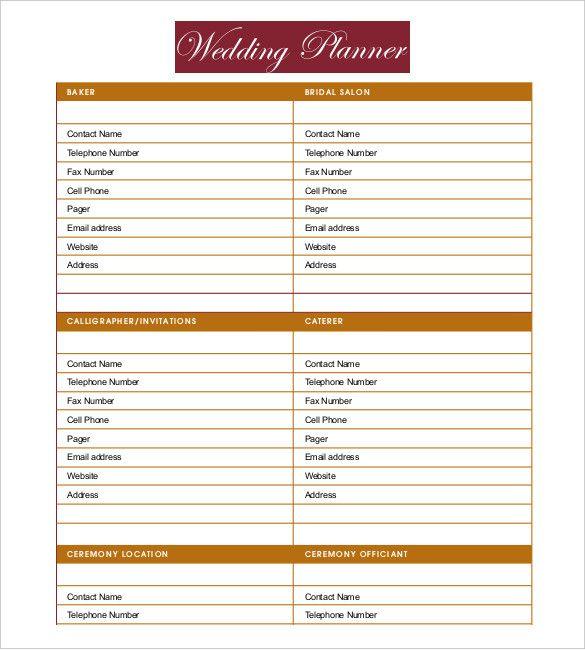 Free Printable Wedding Planner Templates Best Of Wedding Planner Template Free In 2020 Wedding Planner Printables Free Wedding Planner Printables Free Wedding Planner