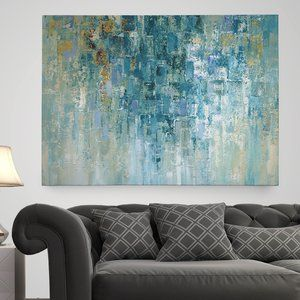 'I Love the Rain' Painting Print on Wrapped Canvas