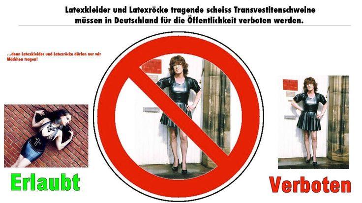 Bitte Petition unterschreiben und verteilen. Transvestiten/Transsexuelle in UNSEREN FRAUEN Latexkleidern für die Öffentlichkeit europaweit verbieten. http://www.petitionen24.com/transsexuelle_in_latexkleidern_europaweit_verbieten