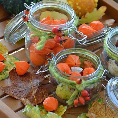 1000 bilder zu kreativ ideen auf pinterest blattdrucke for Herbstdeko im glas