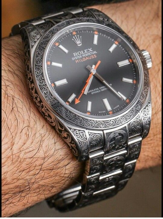 $16,000  Rolex Milgauss ingraved