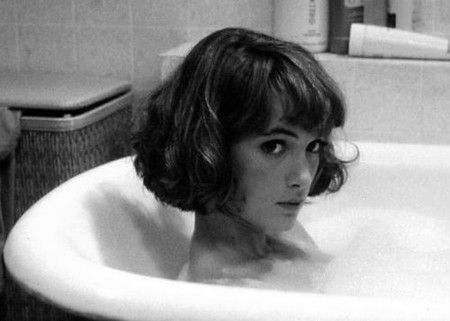 Winona Ryder, movie, film, actress, black and white, hairstyle, bob, fringe, bangs, pretty, fashion, style