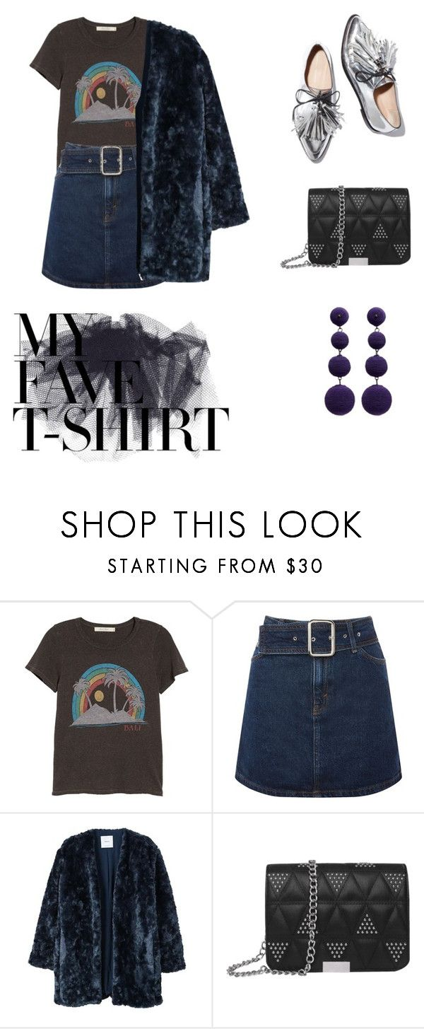 """#MyFaveTshirt"" by lynnb96 ❤ liked on Polyvore featuring Junk Food Clothing, Topshop, Loeffler Randall, MANGO, Kenneth Jay Lane and MyFaveTshirt"