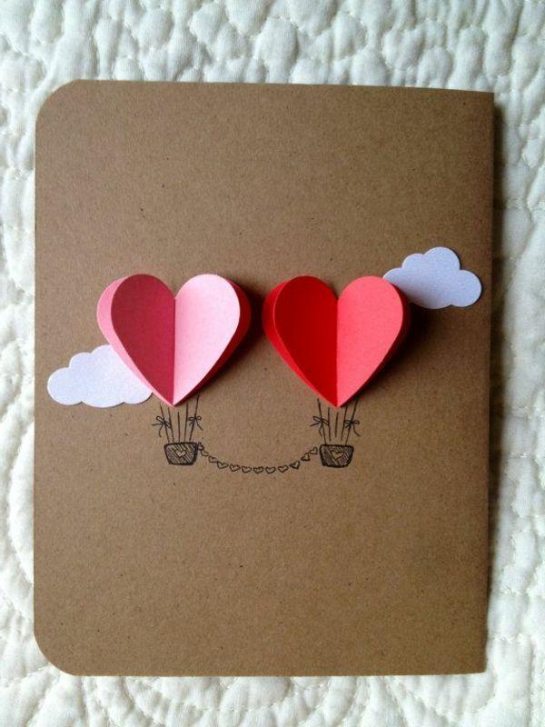 originelle Karte zum Valentinstag