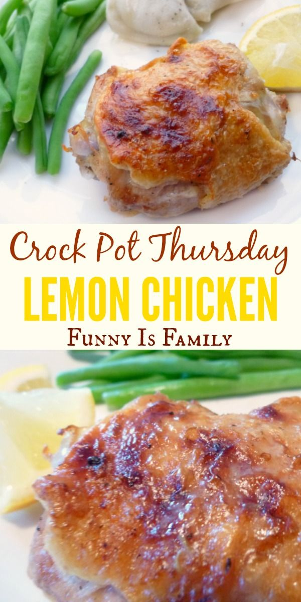This Crockpot Lemon Chicken is simple to throw together and has incredible flavor! It can be a light and healthy chicken recipe, or you can make a deliciously creamy sauce to accompany the dinner!