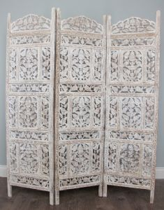 White Wooden Moroccan Screens Room Dividers For
