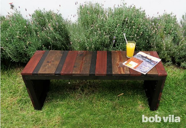 DIY Outdoor Bench - DIY Lite - Bob Vila http://www.bobvila.com/articles/diy-outdoor-bench/?utm_content=buffer7ca61&utm_medium=social&utm_source=pinterest.com&utm_campaign=buffer#.VXuEE_mrQvg