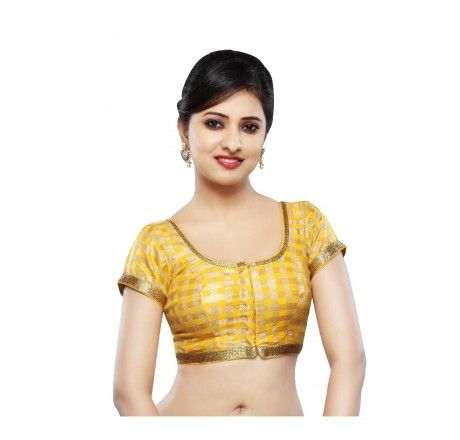 Dupion Silk Ready Made Stitched padded blouse - Blouses - Saree,Blouse & more