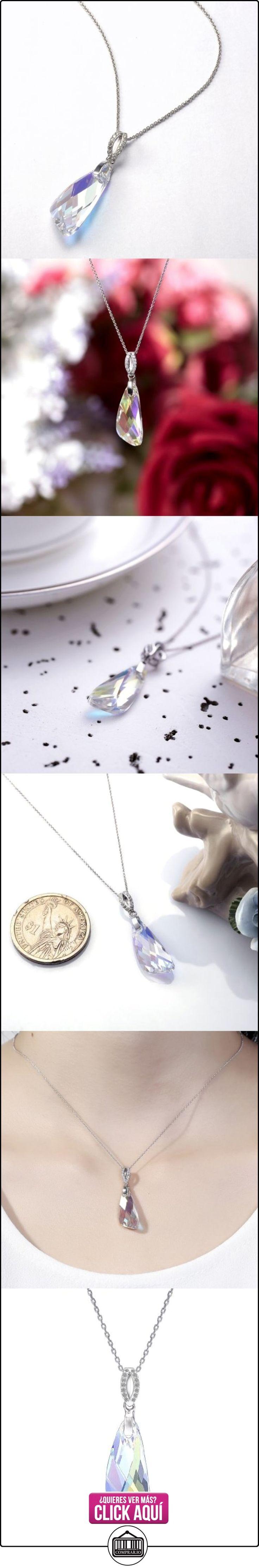LYNN VIKI-Collar para mujer con colgante, diseño de aurora boreal-cristal de Austria y plata fina 925, con circonitas  ✿ Joyas para mujer - Las mejores ofertas ✿ ▬► Ver oferta: http://comprar.io/goto/B00HVWV9EQ