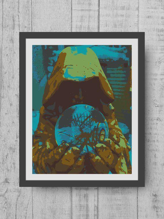 Digital Prints - Wizard Print - Halloween Decorations - Halloween - print halloween decorations