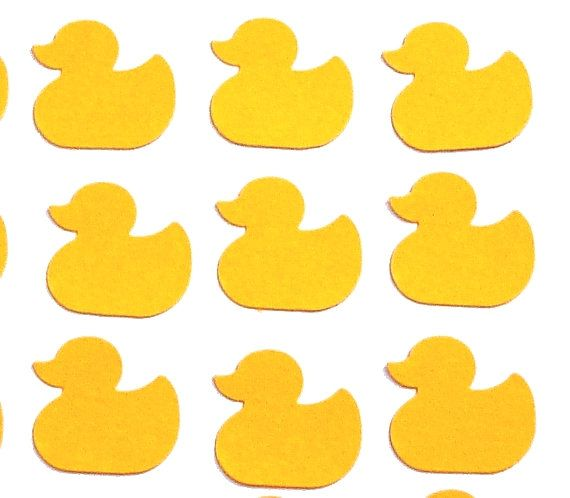 100 Yellow Duckies Duck punch die cut confetti scrapbook embellishments - No429. $3.00, via Etsy.