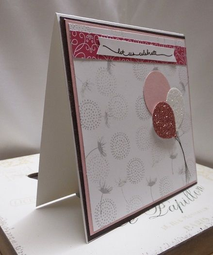 Stamping at The Warren: Balloon Celebration Glimmery Celebration Card Stampin Up! UK