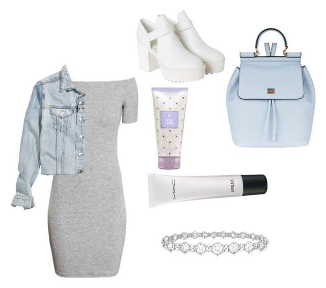 """Blue"" by raque-santacruzv on Polyvore featuring moda, Dolce&Gabbana, Epoque, MAC Cosmetics, Monki y H&M"