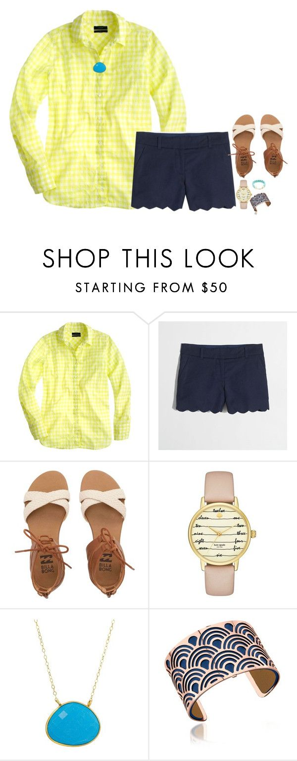"""What does one do when they become legal?"" by meganjoleen ❤ liked on Polyvore featuring J.Crew, Billabong, Kate Spade, Dee Berkley, Les Georgettes and Vineyard Vines"