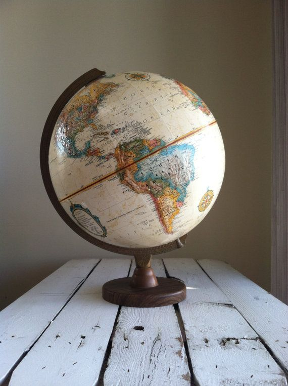Best 25 world globes ideas on pinterest tea pots tea pot and globe reserved vintage world globe replogle world globe by mellafina sciox Image collections