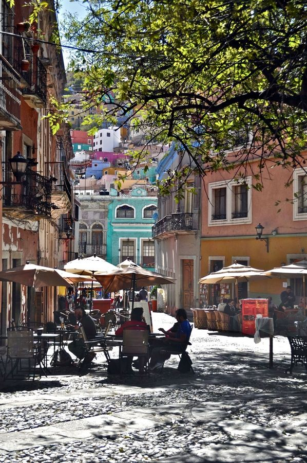 Guanajuato, Mexico; I remember sitting on the bench, listening to a man play the guitar, and the boys play with the their new Mexican toys. We got hungry and made a left, KFC was to the left. Allister was happy, eating  his French fries.