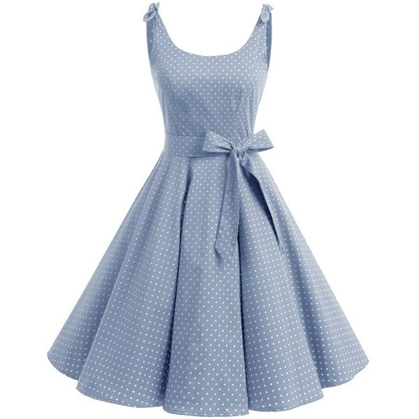fd2a10182339 Bbonlinedress 1950's Bowknot Vintage Retro Polka Dot Rockabilly ...