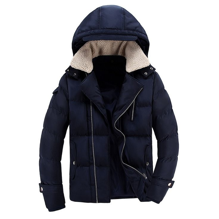 59.88$  Watch now - http://ali7v9.worldwells.pw/go.php?t=32754024103 - Hooded Thickening Men Winter Plush Collar Men Cotton-Padded Jacket European And American Fashion Warm Cotton-Padded Clothes