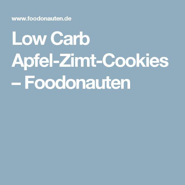 Low Carb Apfel-Zimt-Cookies – Foodonauten