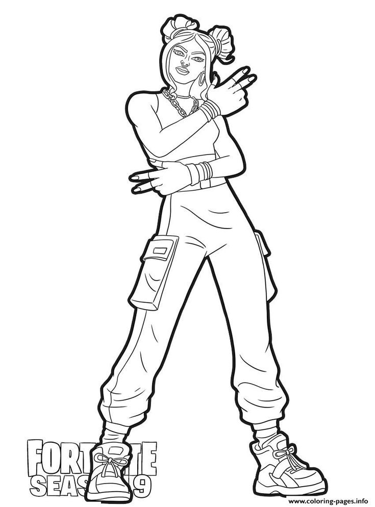 Print Luxe from Fortnite Season 9 coloring pages in 2020 ...