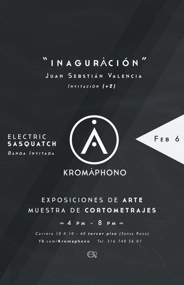 Poster / Invitación a la inauguración del Co-working KROMAPHONO en Cali Colombia  #cowork #posterdesign #poster #design #afiche #inauguracion #diseñografico