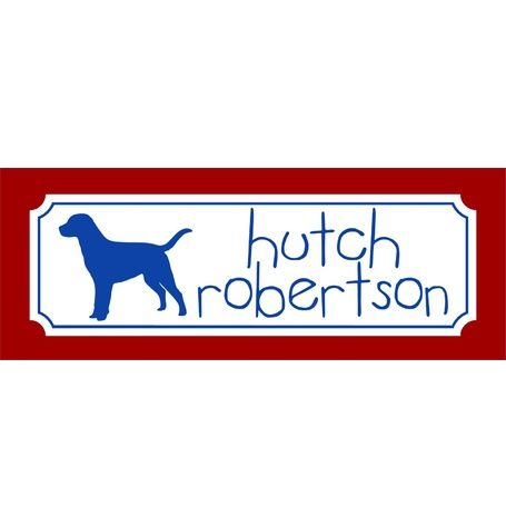waterproof black (blue) dog labels by Murchison Dry Goods Co.  Perfect for water bottles, lunch boxes, etc. www.murchisondrygoods.com