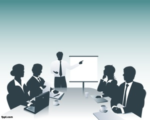 Meeting PowerPoint is a nice PPT template for business that you can use to organize and share your own meeting presentations