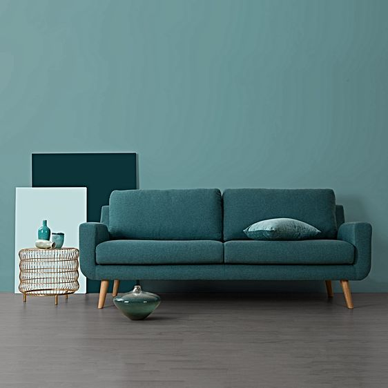 Tomas London Teal 2 Seater Sofa by Zanui