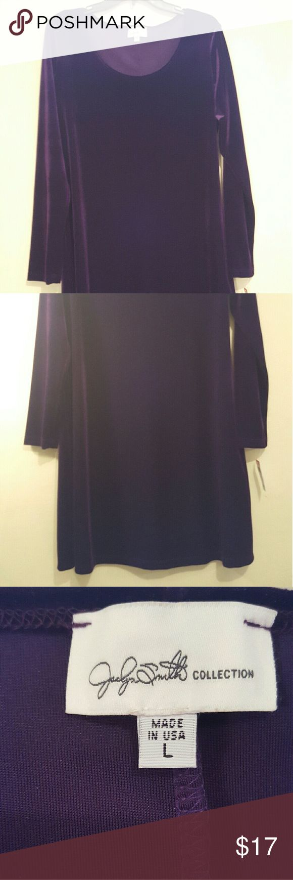 Jaclyn Smith Women's Dress Plum velvet Jaclyn Smith Women's Dress Plum velvet Jaclyn Smith Dresses Midi