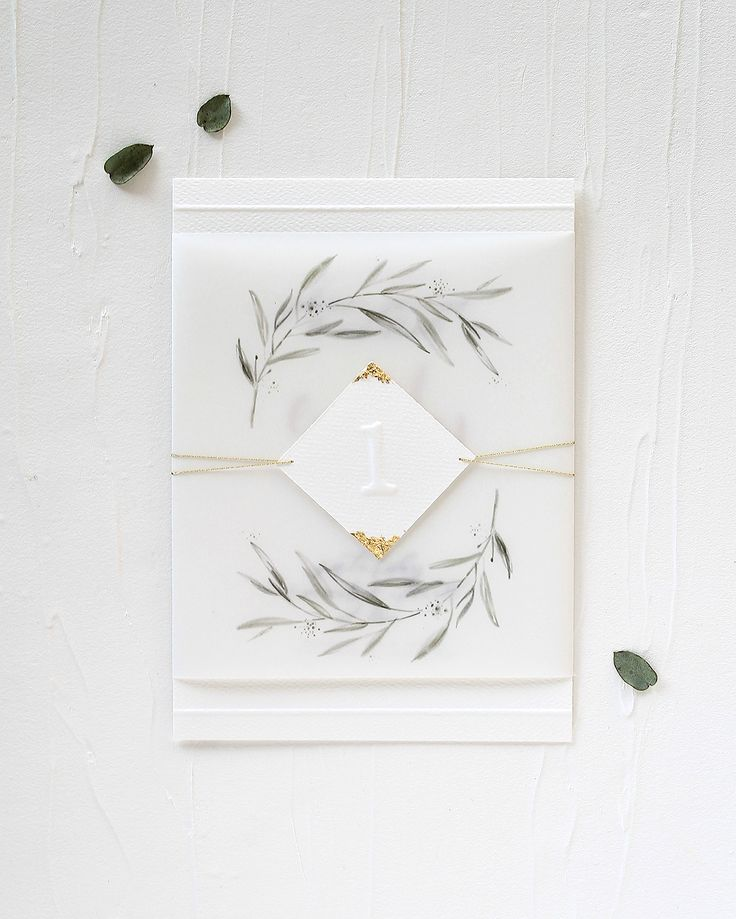 Eucalyptus and Vellum Birthday Party Invitations by Mint for Hue
