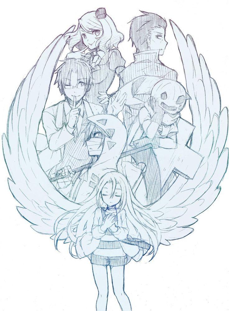 君が笑うまで Angels of Death Fanart Ray, Zack, Danny, Eddie, Cathy, and Gray