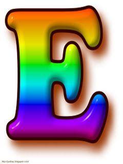 Imagenes De Letras De Colores de bien venidos a clases | Dibujo de Letra E en Color Arco Iris: