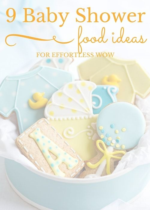 9 Baby Shower Food Ideas For Effortless Wow: You're well into your pregnancy and planning your baby shower: these baby shower food ideas are sure to have your guests reaching for their cameras. #babyshower #foodideas #canvasfactory