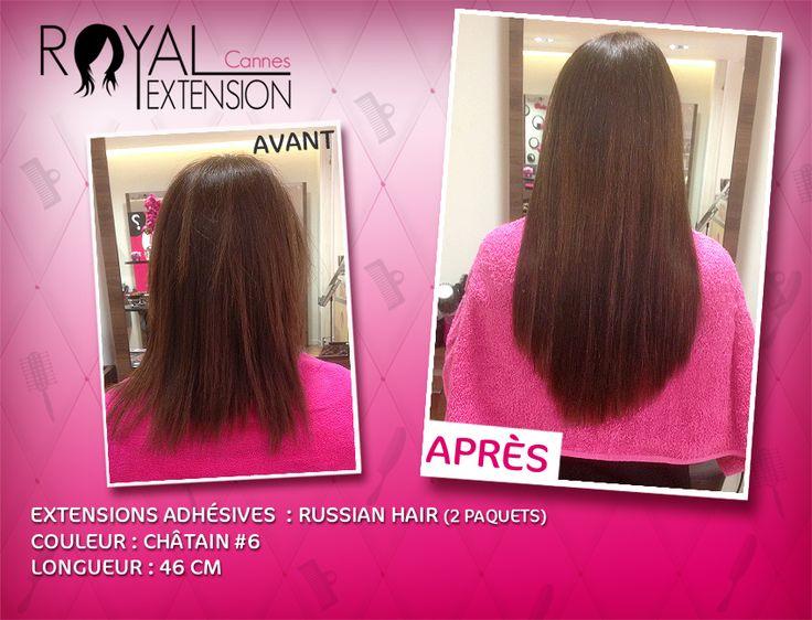 Extensions de cheveux TAPE en bandes adhésives Russian Hair : http://www.royalextension.com/fr/catalogue/produit/extensions-adhesives-/-tape-raides-46-cm-russian-hair.38-401.html