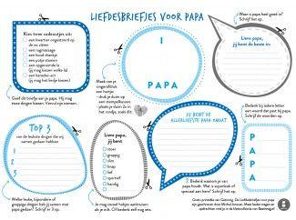 Liefdesbriefjes voor papa #gezinnig #vaderdag