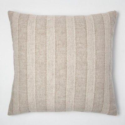 Linen Stripe Oversize Throw Pillow - Threshold™ : Target